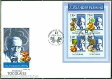 TOGO 2013 85th ANNIVERSARY DISCOVERY OF PENICILLIN ALEXANDER FLEMING SHEET  FDC