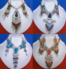 30 Items NECKLACES EARRINGS  Semi precious stones Round Glass Seed Beads Peru