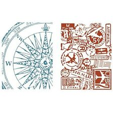 Sizzix Texture Fades Embossing Folders By Tim Holtz - 014022