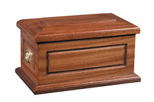 Wooden Cremation Ashes Casket (Wooden / Coffin / Funeral Urn / Adult Size)