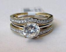 SALE 14k Yellow Gold Antique Vintage Diamonds Ring Guard Wrap Solitaire Enhancer