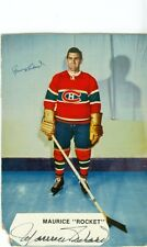 Vintage Maurice Richard Autographed Jigsaw Puzzle Box Photo Montreal Canadiens!