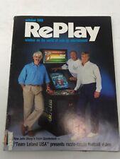 Replay Magazine October 1988 Arcade Video Game Magazine Coin-op John Elway