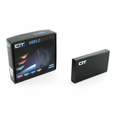 "CIT 3.5"" USB 3.0 External Aluminium Hard Drive Enclosure Hard Drives U3PD Black"