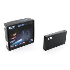 """CIT 3.5"""" USB 3.0 EXTERNA ALUMINIO Disco Duro Caja Discos Duros u3pd Negro"""