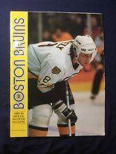Boston Bruins 1993-94 Official Souvenir Magazine Game Program Cam Neely
