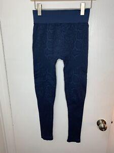 Nikibiki Blue Leopard Leggings Women's O/S