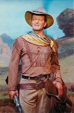 "John Duke Wayne Hondo 1954 4x6"" Postcard Movieland Wax Museum"