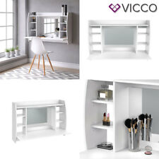 VICCO Table de maquillage MAX White - Coiffeuse table de toilette table murale