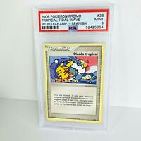 PSA 9 2006 Trophy Card  SPANISH Tropical Tidal Wave 036 Worlds PROMO Pokemon