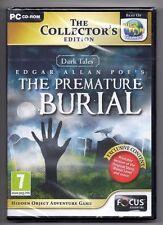 Dark Tale Edgar Allan Poe's The Premature Burial PC Game New STOCKING STUFFERS