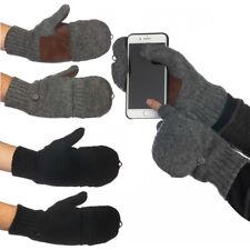 John Bartlett Wool 3M Thinsulate Fingerless Gloves With Mitten Cover Mens Womens