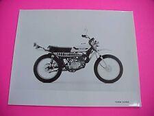 Suzuki TS185 TS185K 1973 Dealer Factory Photo Foto Black & White Glossy OEM NOS