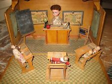 Antique French miniature doll school musical mechanical automaton
