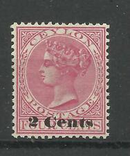 1888/90 Sg 210, 2c on 4c Rosy Mauve, Average Mounted Mint no gum. {AVC-110}