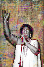 ARETHA FRANKLIN Tribute 1942-2018 12x18in Poster Aretha Print With Free Shipping
