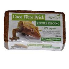 2 x monkfield Coco fibra Brick Rettile Biancheria da letto di substrato 100% Biologico