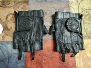 Pre-Owned Harley Davidson Padded Fingerless Gloves Size Medium