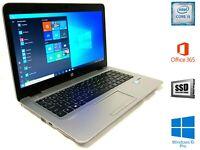 """HP EliteBook 840 G3 Laptop 14"""" FHD i5-6th Gen 16GB Ram 180GB SSD M.2 & 500GB HDD"""