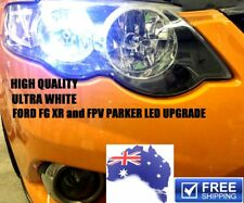2 x ULTRA White LED parking lights upgrade for FORD FG XR6, XR8, FPV parkers
