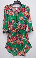 640ed104ac Live 4 Truth Womens Size XLarge Green Floral Print Lace-Up Woven Shirt Dress  New