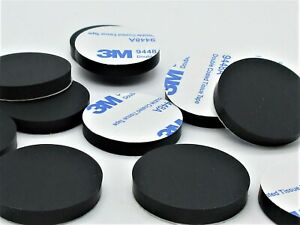 """1"""" Diameter Silicone Rubber Feet for Lab & Medical Equipment. 3M Adhesive Back"""