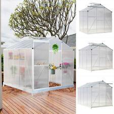 10ft 8ft 6ft 4ft Aluminium Garden Green Plants Grow Greenhouse Large Structure