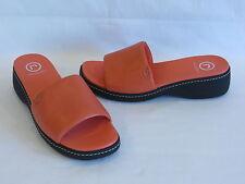 Rockport Melon Leather Wedge Heels/Slides - 9M – NEW!