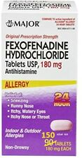 Fexofenadine (Allegra) 180mg Allergy 150ct Tab- Large Size BEST PRICE Exp 053120