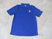 Reebok New York Rangers Polo Shirt Adult Small Blue Dri Fit NHL Hockey Mens