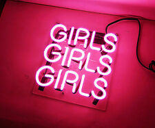 "Three Girls Handcrafted Home Decor Room Beer Bar Art Neon Light Sign Lamp 10""x10"
