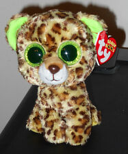 "Ty Beanie Boos ~ SPECKLES the 6"" Leopard ~ Glitter Eyes ~ MINT with MINT TAGS"