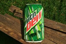 "Mountain Dew Can Embossed Tin Metal Sign - 18"" x 10"" -  Retro - MTN - Pepsi"