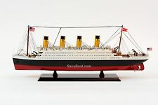 "RMS Titanic Cruise Ship 25"" - Handmade Wooden Model Ship NEW"