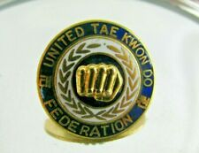 Vintage Martial Arts United Tae Kwon Do Federation Pin Early 70's