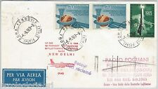 60196  - STORIA POSTALE - AVIAZIONE: Volo FIRST FLIGHT  #524 CD Rome INDIA 1963