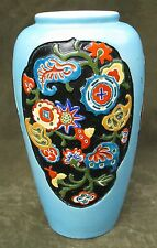 Vintage Deco Japanese Art Pottery Vase 9""