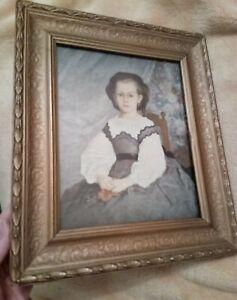 Old Framed Print Renoir romaine lacaux vintage ornate