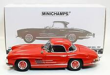 Minichamps 180039041 Mercedes Benz 300 SL Roadster w/ Hardtop 1957 Red 1:18
