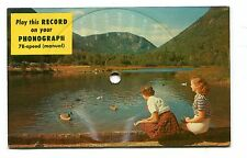 Vintage Postcard RECORD 78 speed CRAWFORD NOTCH NH