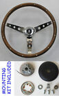 New 1965 - 1969 Mustang Real Wood Grip Steering Wheel Grant 15 Chrome Spokes