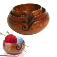3 Sizes Yarn Storage Bowl Wooden Yarn Balls Organizer For Knitting Crocheting
