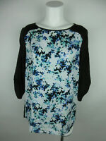 Apt. 9 Women's sz L Polyester Boat Neck Floral Open Back Multi Color Blouse Top