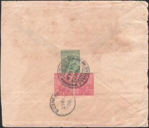 INDIA 1920. Cover 81, 82 (2), Bombay - Bushire, Persian Gulf
