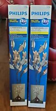 Philips LED Branch Lights 30 Warm White Gold Leaf Stakes Battery Operated NIB