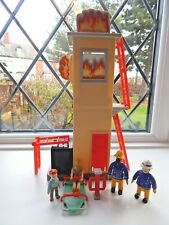 FIREMAN SAM FIGURE AND TRAINING TOWER + OFFICER STEELE, NORMAN & TRAINING DUMMY
