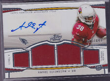 2013 Topps Prime Level V Andre Ellington Auto Jersey SP Rc Serial # to 449