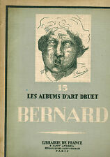 Fumet, J. Bernard 24 tableaux, album d'art Druet, Librairie de France, paris 1928