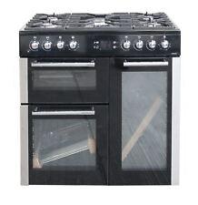 Leisure AL90F230 Dual Fuel Range Cooker 90cm Black / Silver 5 Gas Burners 2 Oven