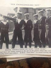 ephemera Pictures 1939 Sailors On Board The Iron Duke Signal Training